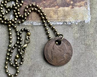 Men's Vintage Coin Necklace
