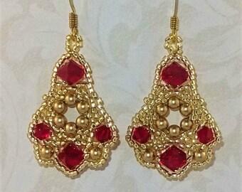Belle Of The Ball Earrings - Drop Earrings - Crystal Earrings - Beaded Earrings - Gift For Her - Birthday Present - Wedding Jewellery