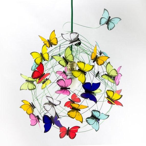 Deckenleuchte mit Schmetterlingen-Schatten-Lampe Kronleuchter | Etsy