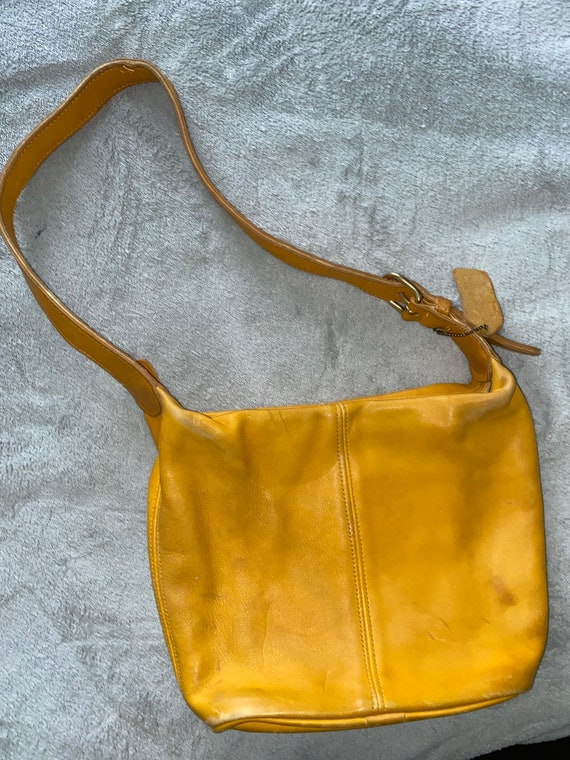 Vintage mustard yellow coach purse