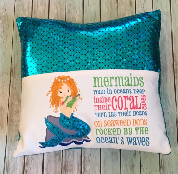 Mermaid Reading Pillow Book Pillow