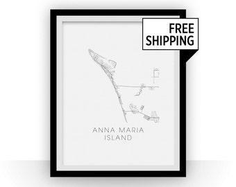 Anna Maria Island Florida Map.Anna Maria Island Etsy