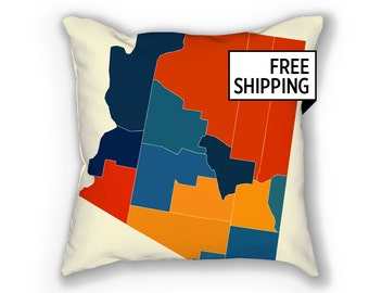Arizona Map Pillow - AZ Map Pillow 18x18