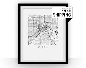 St Paul Map Print