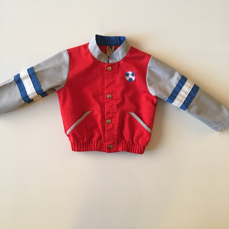 3602073de Vintage Soccer Jacket with Snaps by Carter's Toddler Boy | Etsy
