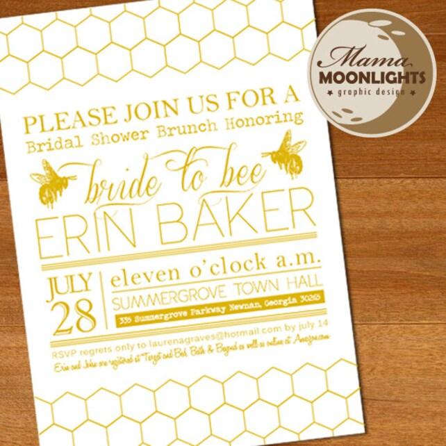 Bride to bee whimsical modern bridal shower invitation etsy image 0 filmwisefo