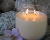 100 soy wax and essential oil 12 oz candle in wine glass container