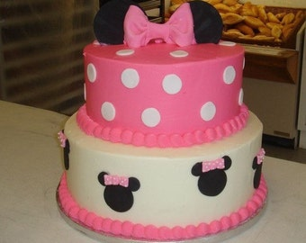 Minnie Mouse Birthday Cake 2 Tiers