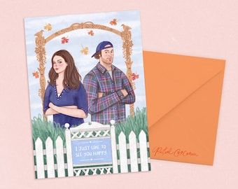 Gilmore Girls Card by Rachel Corcoran - Lorelai, Luke - Valentines Card, Engagement, Romantic, Anniversary - Lukes Diner, Illustration Print