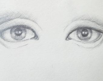 Pencil drawing of eyes
