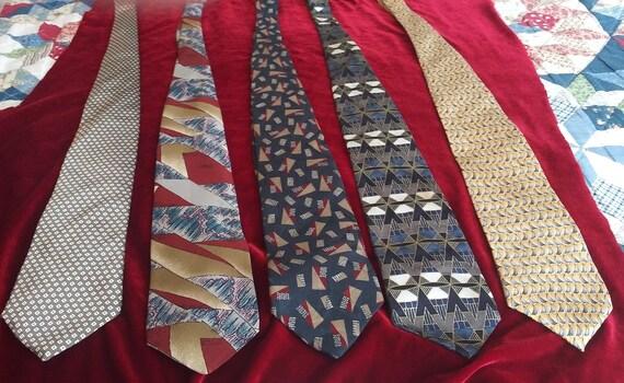 Men's vintage silk neckties