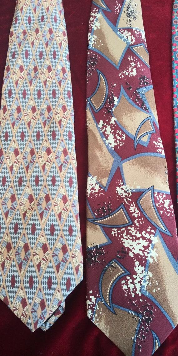 Men's vintage silk ties. - image 3