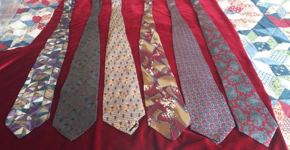 Men's vintage silk ties.
