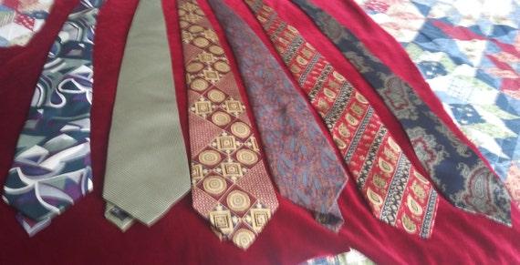 Men's vintage silk ties