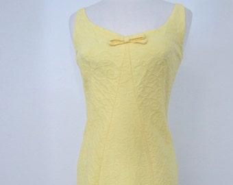 Early 1960s Shapely Lanz Original Yellow Sundress
