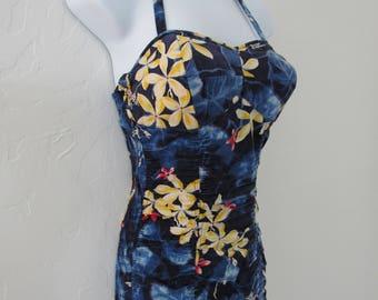 1950s Kamehameha Hawaiian Halter Swimsuit