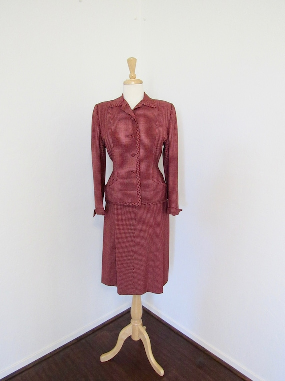 """1940s Classic, Beautifully Tailored """"Victory"""" Suit"""