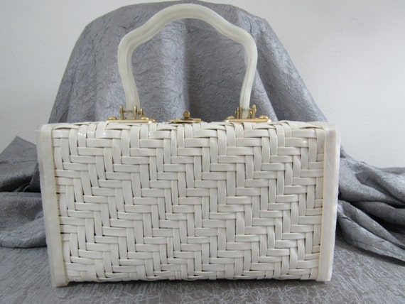 Summer Whites!  1950s - 60s White Basketweave & Ma
