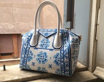 8d5bc9278c Custom Majolica Maiolica Hand Painted Italian Leather Purse