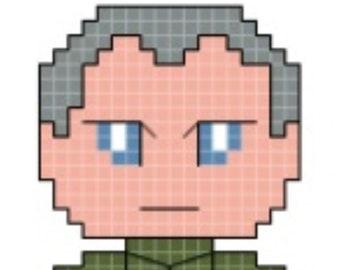Star Wars Grand Moff Tarkin Cross Stitch Pattern **DIGITAL** PATTERN ONLY