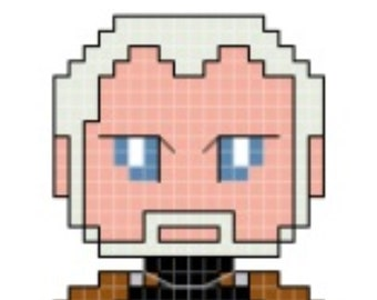 Star Wars Count Dooku Cross Stitch Pattern **DIGITAL** PATTERN ONLY