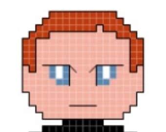 Star Wars General Hux Cross Stitch Pattern **DIGITAL** PATTERN ONLY