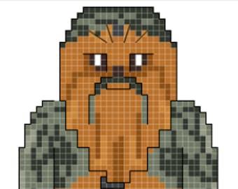 Star Wars Chewbacca Cross Stitch Pattern **DIGITAL** PATTERN ONLY