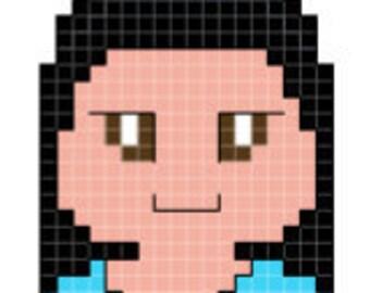 Star Trek: The Next Generation Deanna Troi Character Cross Stitch Pattern *PATTERN ONLY*
