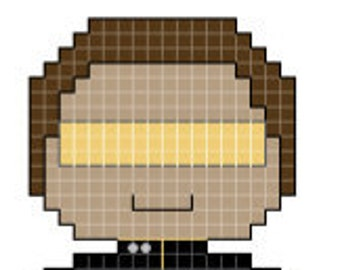 Star Trek: the Next Generation Lt. LaForge Character Cross Stitch Pattern *PATTERN ONLY*
