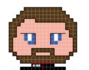 Star Trek: The Next Generation Commander Riker Character Cross Stitch Pattern *PATTERN ONLY*
