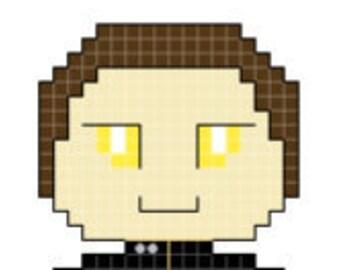 Star Trek: The Next Generation Data Character Cross Stitch Pattern *PATTERN ONLY*