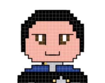 Doctor Bashir Character Cross Stitch Pattern
