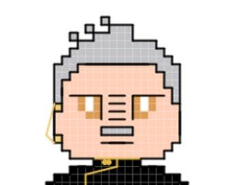 Shaxs Character Cross Stitch Pattern