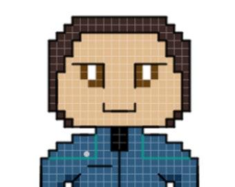 Sato Character Cross Stitch Pattern