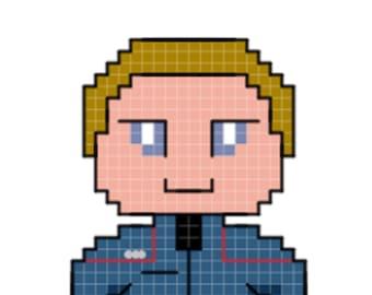 Tucker Character Cross Stitch Pattern