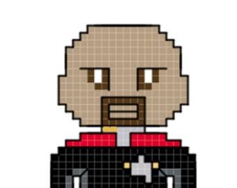Sisko Character Cross Stitch Pattern