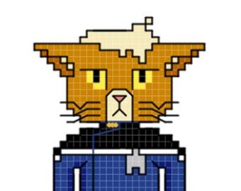 Dr. T'ana Character Cross Stitch Pattern