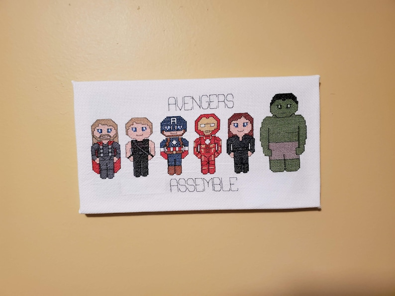 Avengers Assemble  FINISHED CANVAS-STYLE Group
