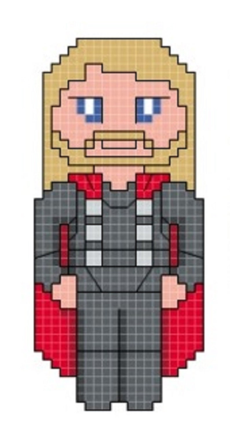 Thor Cross Stitch Pattern only DIGITAL image 0