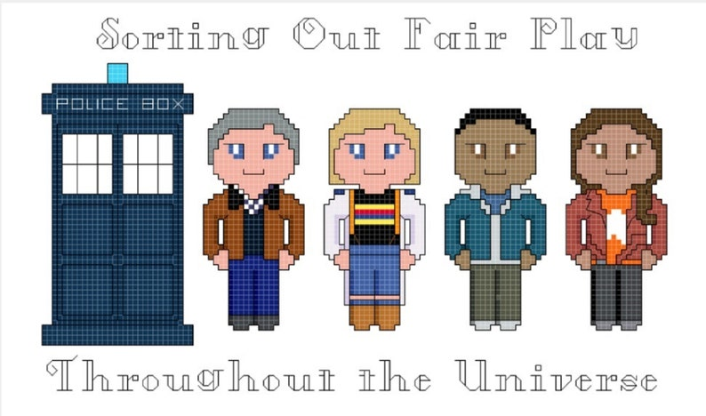Doctor Who Cross Stitch Pattern only DIGITAL image 0