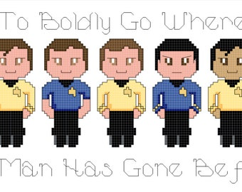 SAVE 25% -- Star Trek: Group Cross Stitch Pattern Bundle -- SAVE!