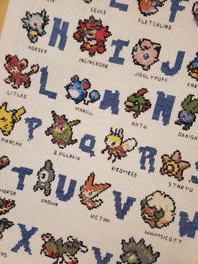Pokemon Alphabet  FINISHED CANVAS-STYLE image 0