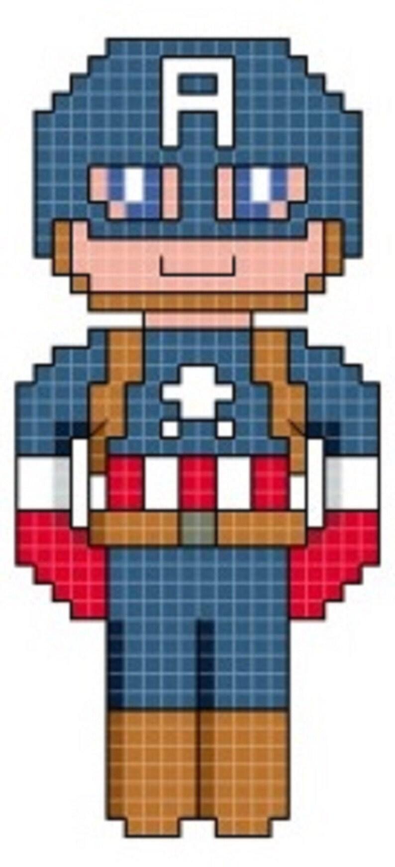 Captain America Cross Stitch Pattern only DIGITAL image 0