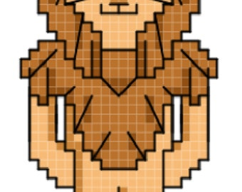 Cowardly Lion - Wizard of Oz Cross Stitch Pattern **DIGITAL**