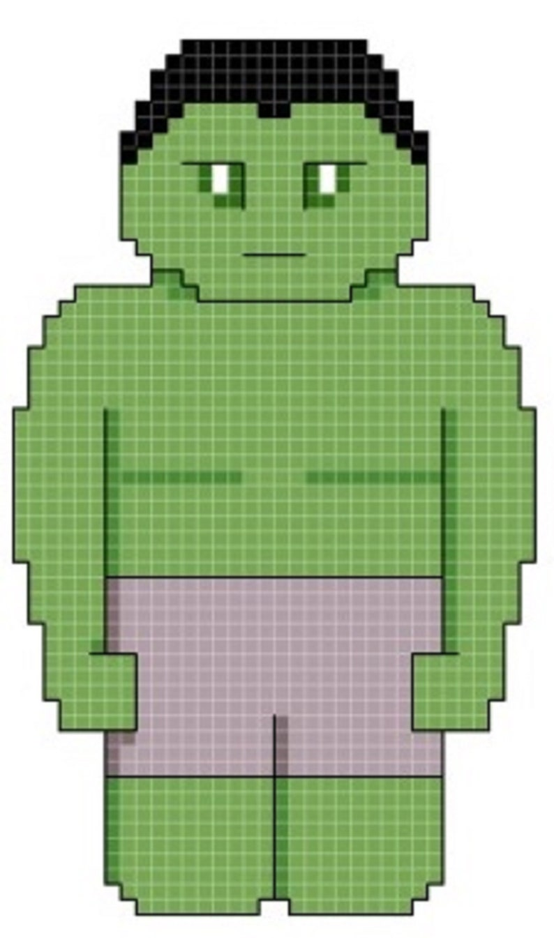 The Hulk Cross Stitch Pattern only DIGITAL image 0