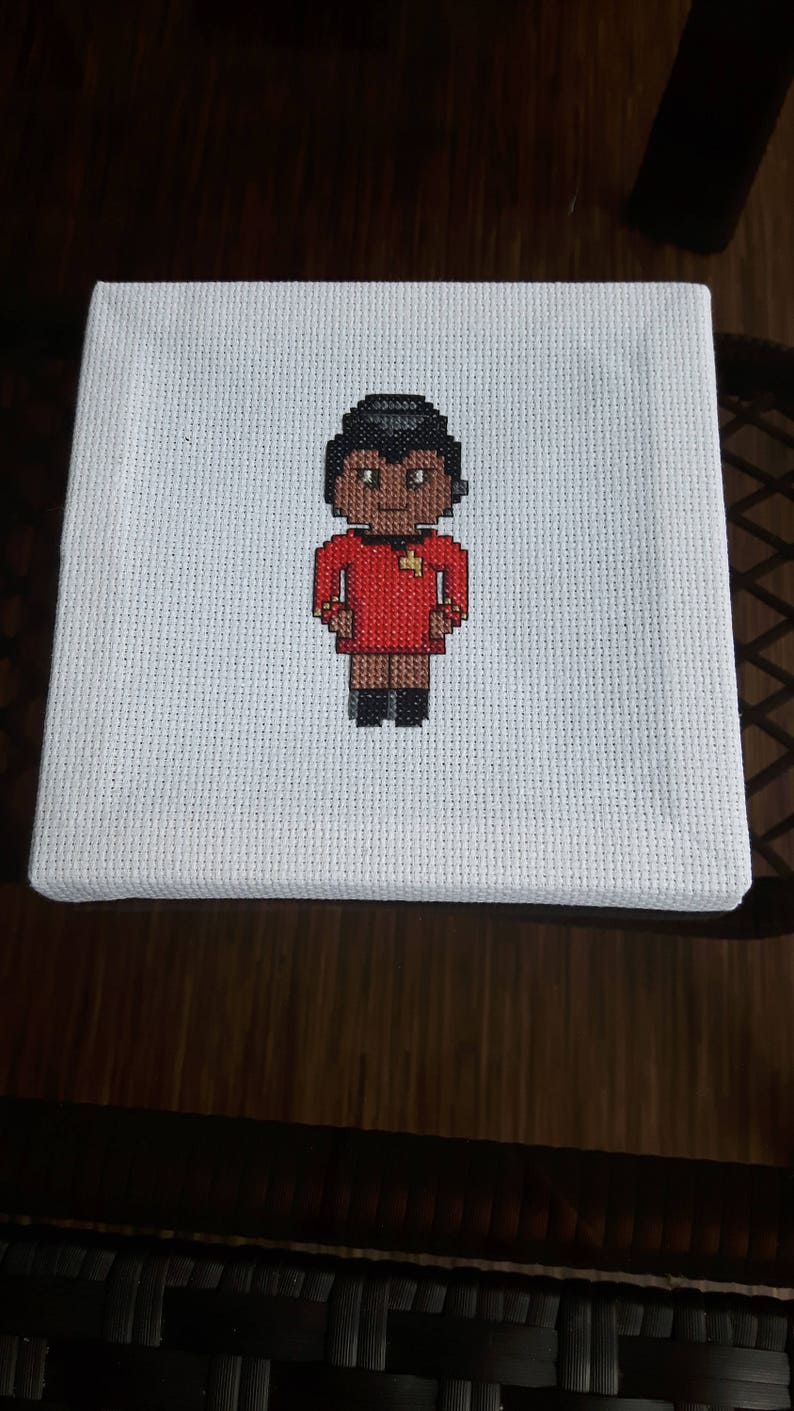 Uhura Cross Stitch Pattern DIGITAL image 0