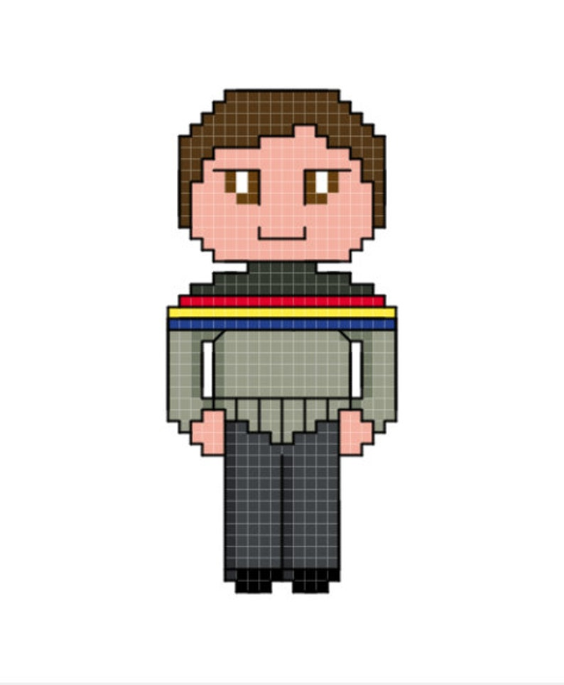 Star Trek: The Next Generation Wesley Crusher Character Cross image 0