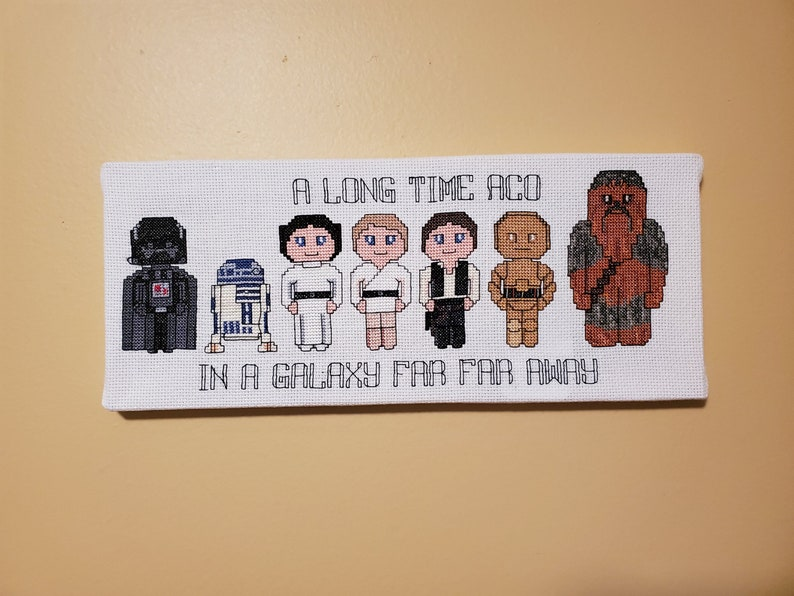 Star Wars Cross Stitch Canvases  FINISHED CANVAS-STYLE Group