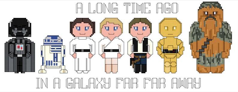 Star Wars Episode IV Group Cross Stitch Pattern image 0