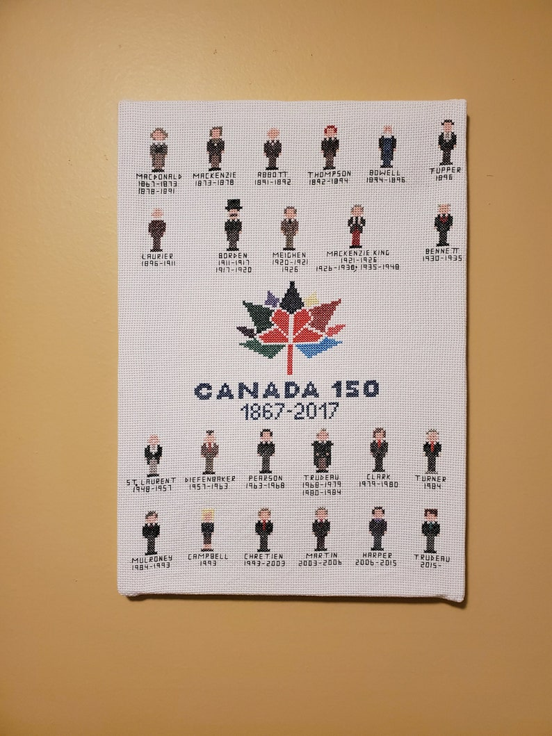 Canadian Prime Ministers  Canada 150  FINISHED CANVAS-STYLE image 0
